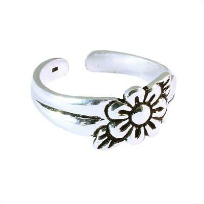 Sterling Silver Toe Ring - Flower Design - BOXED