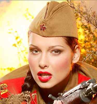 ORIGINAL RUSSIAN SOVIET ARMY RED STAR FOR MILITARY HAT (PILOTKA)