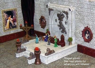 Painted Large Dais Throne Room Set - Works with Dwarven Forge and DnD D&D