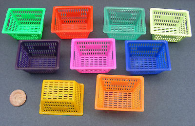 1:12 Scale Large Size Dolls House Miniature Plastic Basket Kitchen Accessory