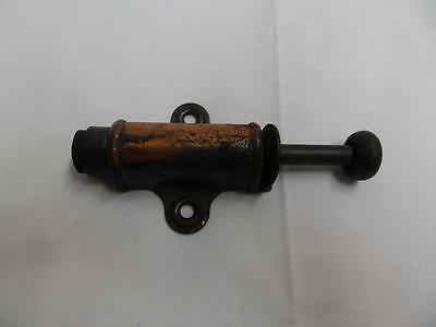 Vintage Japanned Door Stop Adjustable Copper Flash Antique Hardware 2934-14