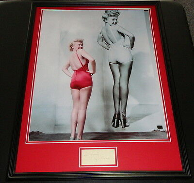 Betty Grable Signed Framed 18x24 Photo Display JSA