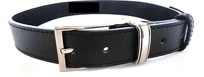 Boys Childrens School Smart Black Leather Belt With Silver Buckle
