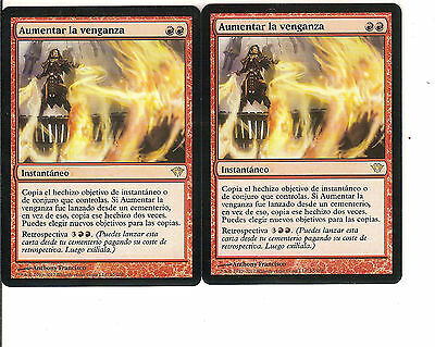mtg Magic 2x Increasing Vengeance ( Aumentar la venganza ) Spanish NM-