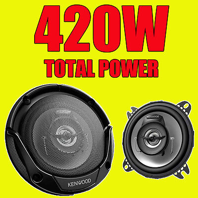 KENWOOD 420W TOTAL 2-WAY 4 INCH 10cm CAR DOOR/SHELF COAXIAL SPEAKERS NEW PAIR