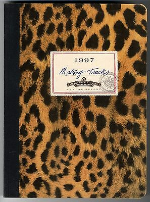 MAKING TRACKS, AMERISTAR CASINOS ANNUAL REPORT 1997, Faux-Leopard textured cover
