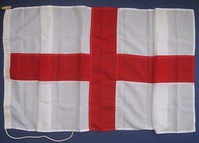 ENGLAND ST GEORGE -  Quality Sewn Flag, Roped & Toggled - Sizes 1/2yd to 3yd
