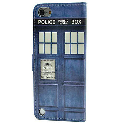Doctor Who Tardis Leather Card Wallet Flip Stand Case For ipod Touch 5 5th Gen