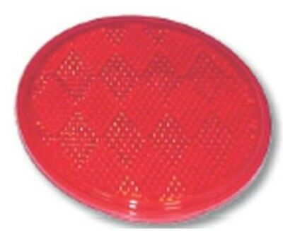 """reflectors (2) round 3 1/4"""" red acrylic tape back for Peterbilt Kenworth Freight"""