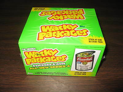 Wacky Packages All New Series 4 Trading Card Box Hobby