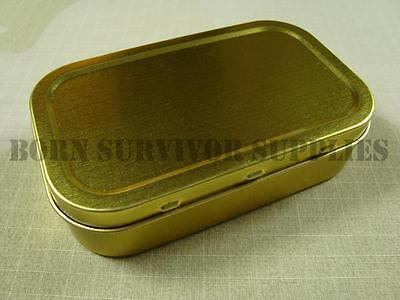 SURVIVAL KIT TIN - Small Empty 1oz Tobacco Baccy Plain Metal Storage Bit Box SAS