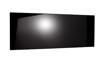 4ft Small Double Size Headboard - Black High Gloss