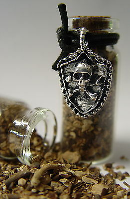 1 x MANDRAKE POISONERS BOTTLE ALTAR CHARM 50 x 20mm Wicca Pagan Witch Goth Herb