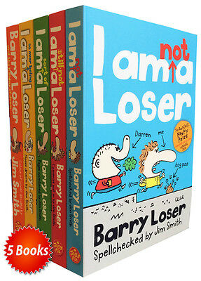 Barry Loser Collection Jim Smith 5 Books Set I am so over being loser, etc