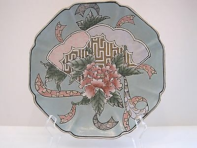 Decorative Fan and Peony Plate