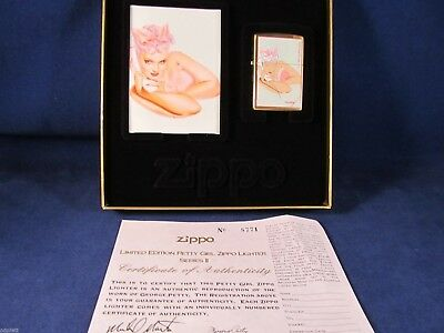 "Zippo Lighter Petty Girl Series by George Petty ""Silver Blonde"" Mint In Case A5"