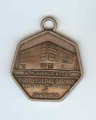 1959 First Federal Savings of San Diego California Silver Anniversary Key Fob
