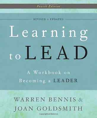 Learning to Lead: A Workbook on Becoming a Leader - Paperback NEW Warren Bennis