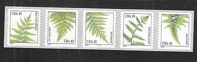 2014 #4852a Ferns 49 cents PNC5 from 10,000 Coil #C1111 with 4848-4852
