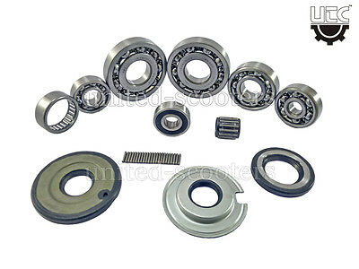 Vespa VBB VLB VNC Sprint Scooter Bearing set of 9 and 3 Oil Seal Brand New V1528