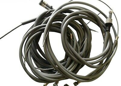 Lambretta Complete Cable Kit Gp And Li Grey & Trunnions Indian Threaded Speedo