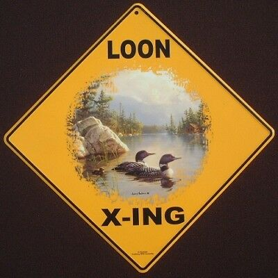 LOON  X-ING  Sign aluminum picture birds decor novelty signs home loons art