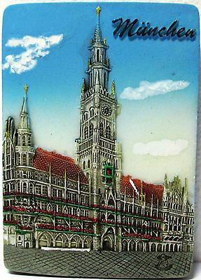 Fridge magnet Munich,german/bavarian gift/souvenir 3D design / Day