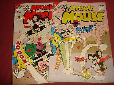 ATOMIC MOUSE #47 and #46  Silver Age Charlton Comics VFN+ 1962