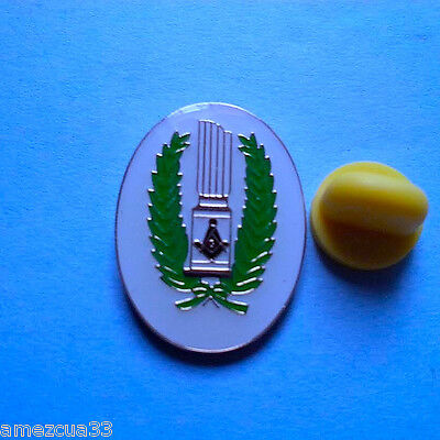Large Master Mason Broken Column Lapel Pin