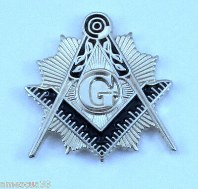 Master Mason Sun splendor Lapel Pin Silver  Finish