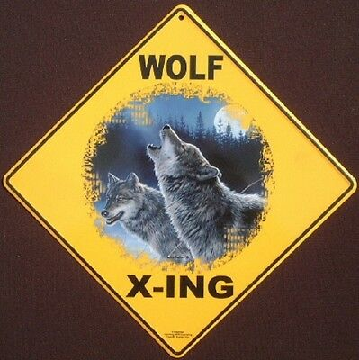 WOLF  X-ING Sign aluminum picture decor wolves novelty signs home wolf wildlife