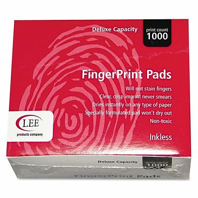 LEE Inkless Fingerprint Pad, 2 1/4 x 1 3/4, Black, Dozen - LEE03127