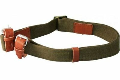 Mosin Nagant Heavy Duty Canvas Constructed Green Sling with Adjustable Straps