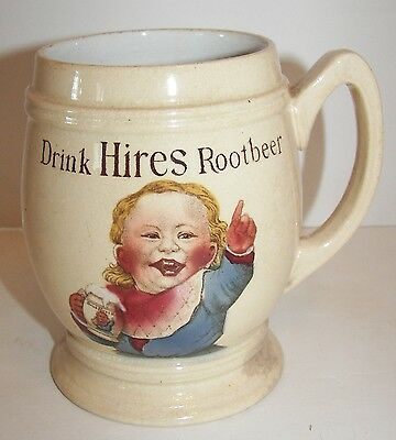 Vintage Antique Hires Root Beer Mug - Villeroy & Boch