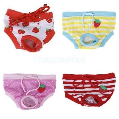 Pet Dog Female Physiological Sanitary Pants Shorts Diaper Apparel Size S/M/L/XL