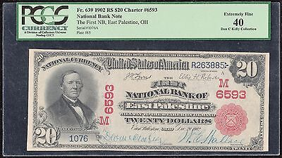 Fr639 1902 Red Seal $20 Charter #6593 National Bank Note Pcgs Xf 40 Wl5277 Key