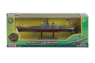 WWII Battleship 1/1175 Scale Detailed Model Diecast with Helicopter Mint in Box