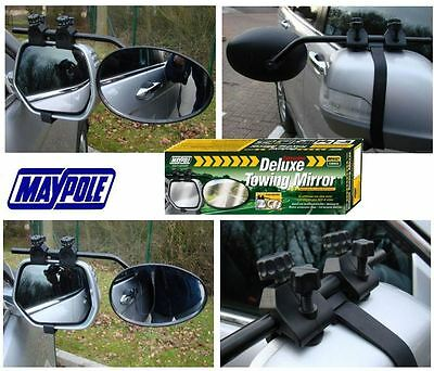 New Maypole 8327 Universal Convex Glass Deluxe Car Caravan Towing Mirror x1