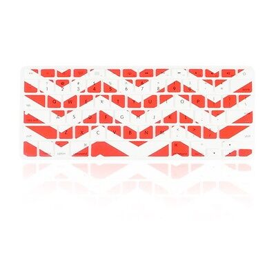 """Chevron Series Red N White Silicone Keyboard Cover for Macbook Air 13"""" A1466"""