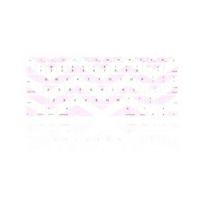 "Chevron  Light Pink N White Silicone Keyboard Cover for Macbook Air 13"" A1466"