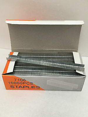New 23 gauge staples box 10000 for pneumatic industrial staple guns 9x6mm 7106