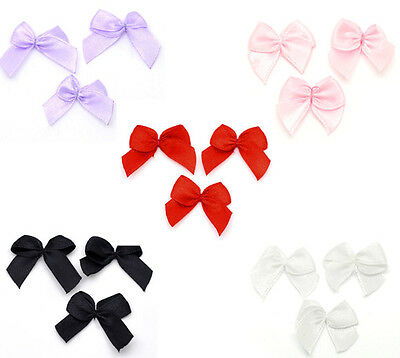 200 Ribbon Bow Wedding Scrapbooking Embellishment Hot 25x20mm M0119