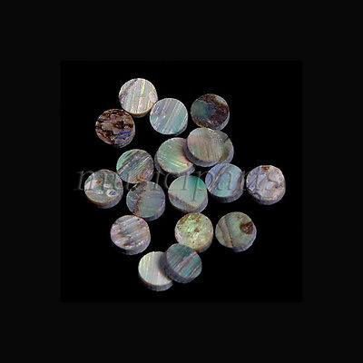 Green Abalone Inlay Material 100 pieces Dots 6mm ,1mm thick