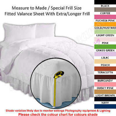 FITTED VALANCE SHEET - 22 Colours - 4 Longer Frill - 52Pick