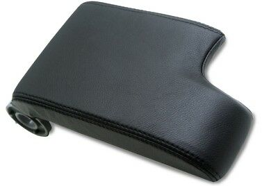 Fits 99-04 BMW E46 Synthetic Leather Vinyl Console Lid Armrest Cover Black