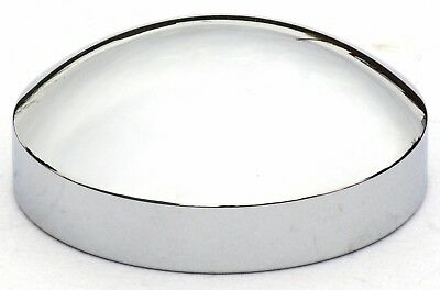 """hub caps(4) rear 8"""" ID 1-1/2 sidewall dome chrome for Kenworth Freightliner Pete"""