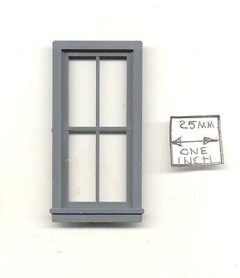 Half Scale 4 Pane Window 3913 1:24 Dollhouse miniature Grandt Line Garden 1pcs