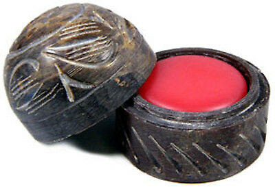 Dragon's Blood Solid Perfume in Hand Carved Soapstone Container With Lid!
