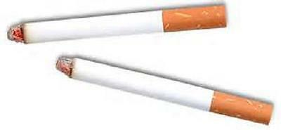 2 FAKE PUFF CIGARETTES w/ Smoke Magic Joke Trick Stage Prop #AA52 Free Shipping
