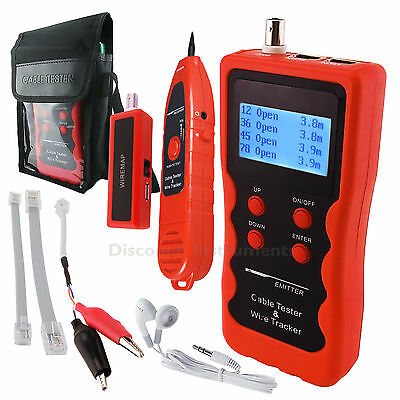 Cable Length Tester Tracker Phone LAN BNC Network Finder USB RJ11RJ45 WireTracer